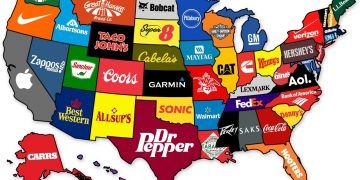 This Map Shows The Most Famous Brand From Each State Of The US