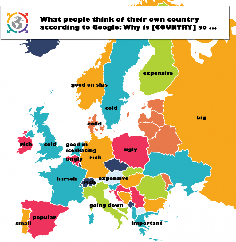 What Europeans Think About Their Own Country According To Google