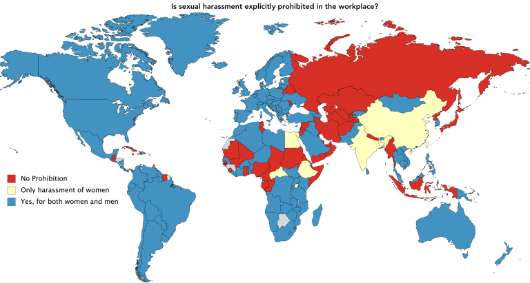 Countries where sexual harassment is explicitly prohibited in the workplace