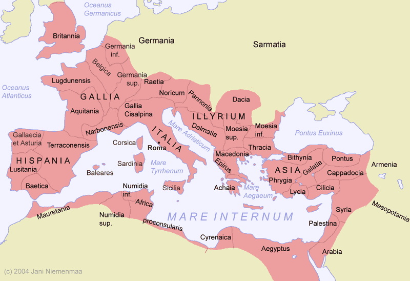 map of roman provinces