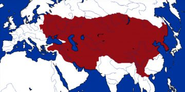 mongol empire map genghis khan
