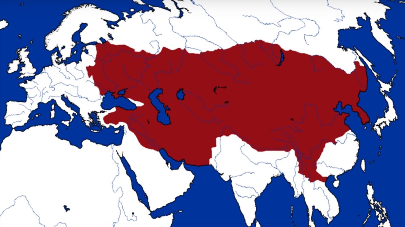 mongol empire map genghis khan