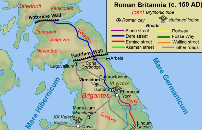 Roman empire wall in Scotland Antonine Hadrians