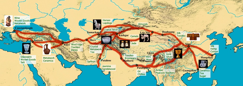 The Silk Route of the Mongol Empire