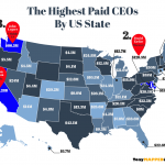 This map shows the highest paid ceo per us state in 2018