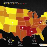 This Map Show Percentage Of Obese Adults By US State In The USA