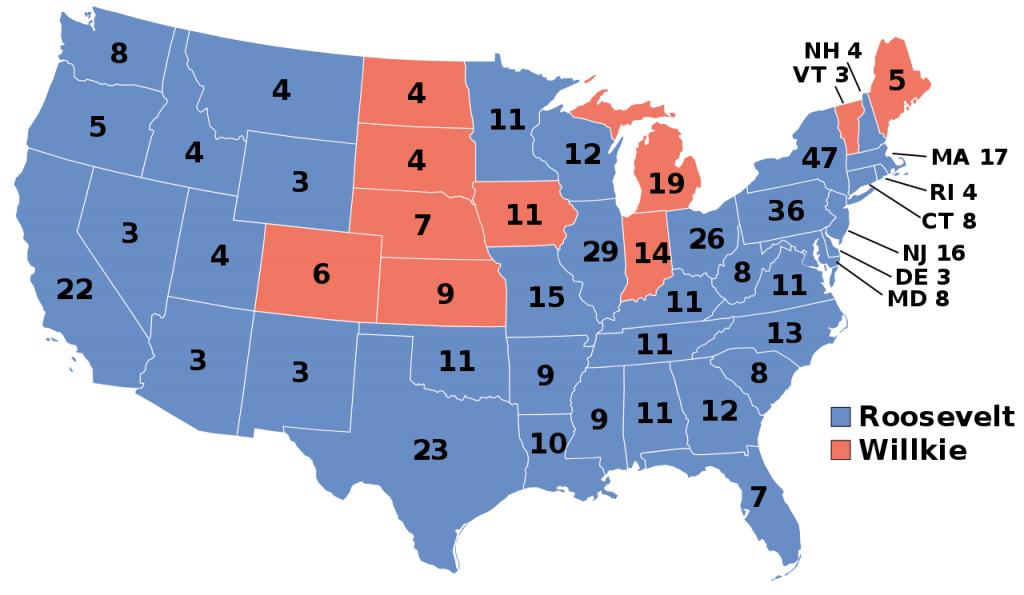 1940 Presidential Election Results