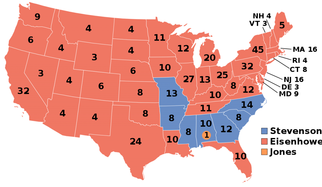 1956 Presidential Election Results