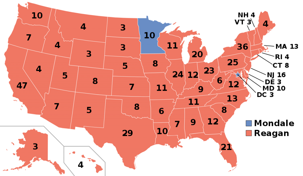 1984 Presidential Election Results