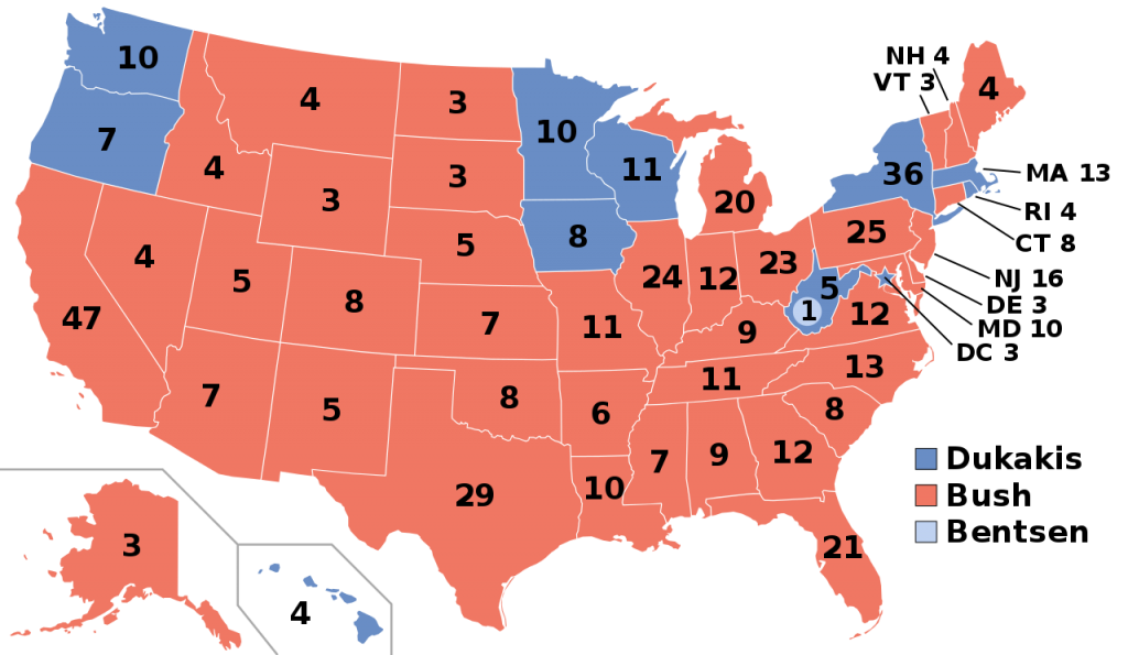 1988 Presidential Election Results