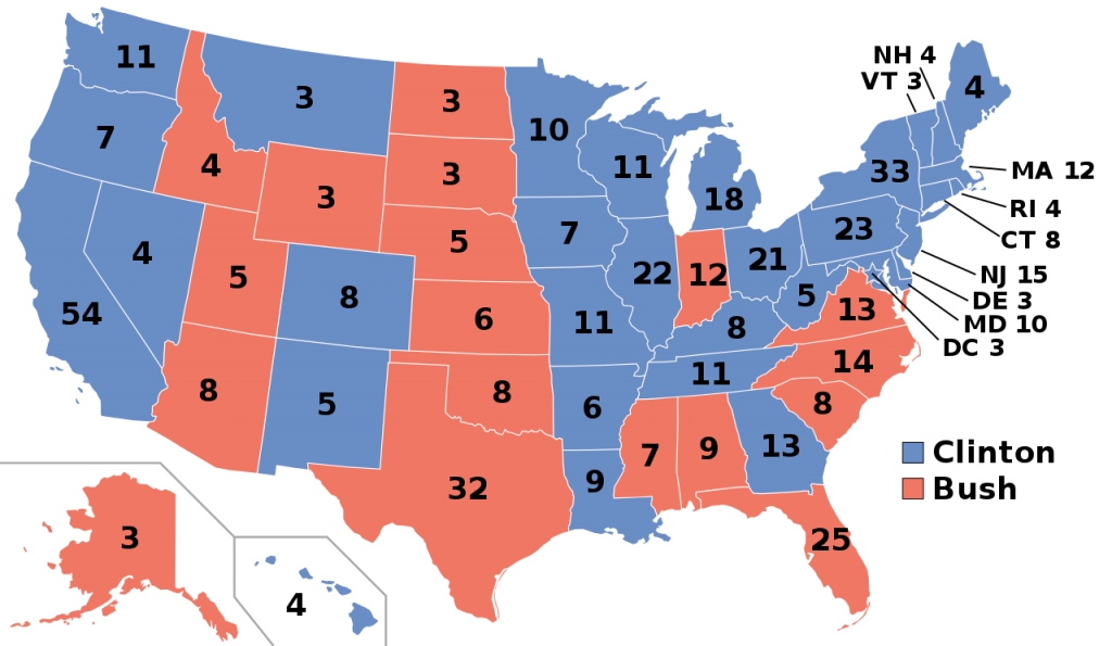 1992 Presidential Election Results