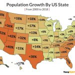 map population growth by us state 2000 2018