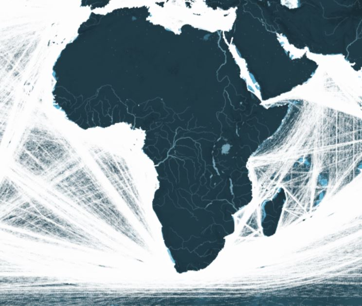 This Map Shows All The Shipping Routes In Africa