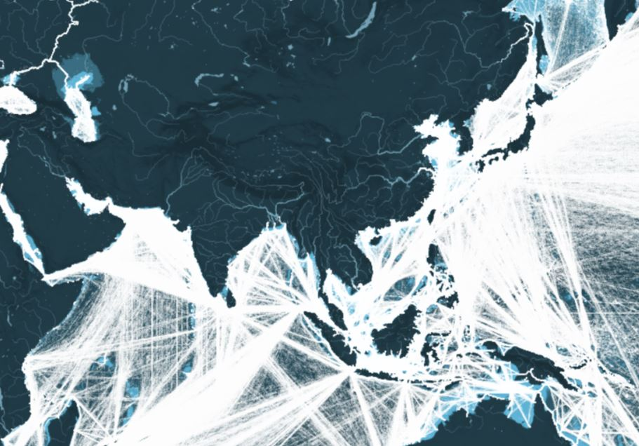 This Map Shows All The Shipping Routes In Asia