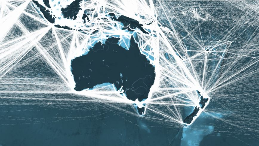 This Map Shows All The Shipping Routes In Australia