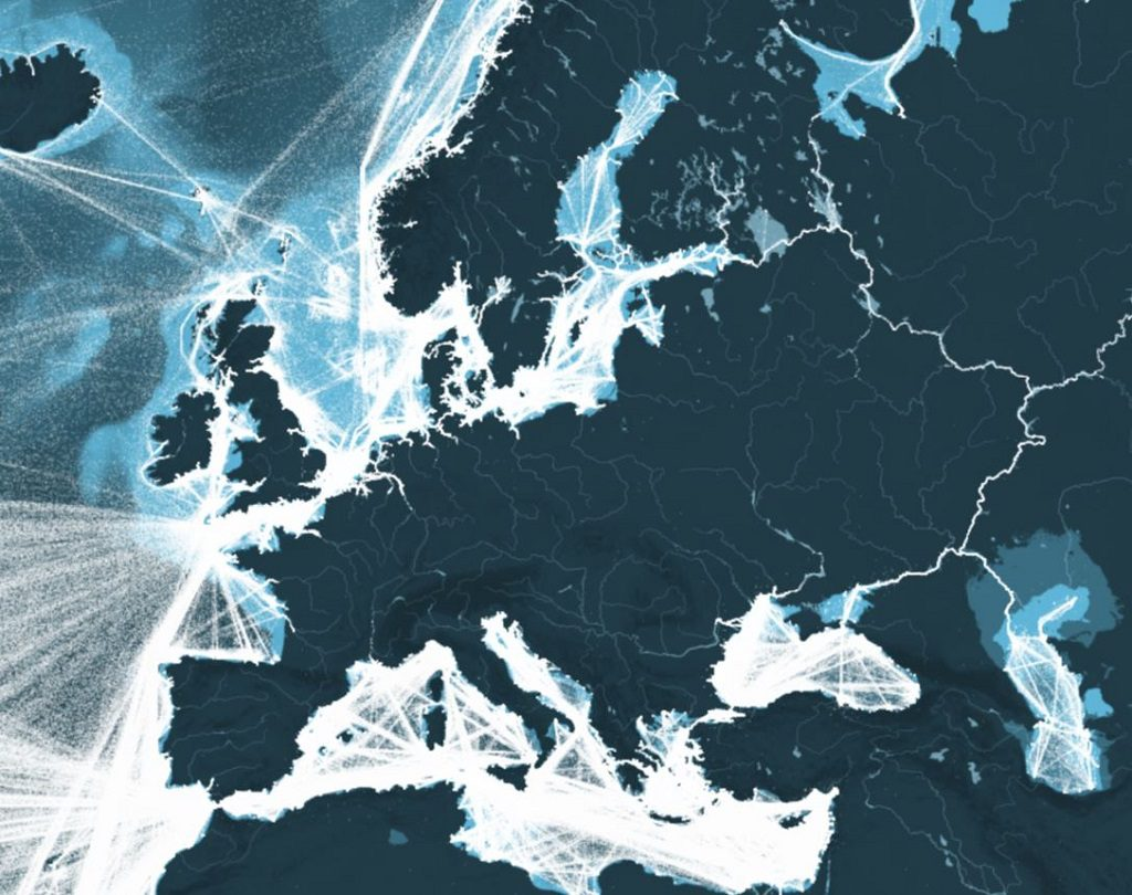 This Map Shows All The Shipping Routes In Europe