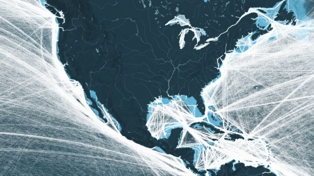 This Map Shows All The Shipping Routes In North America