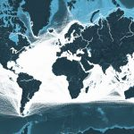 This map shows all the shipping routes in the world
