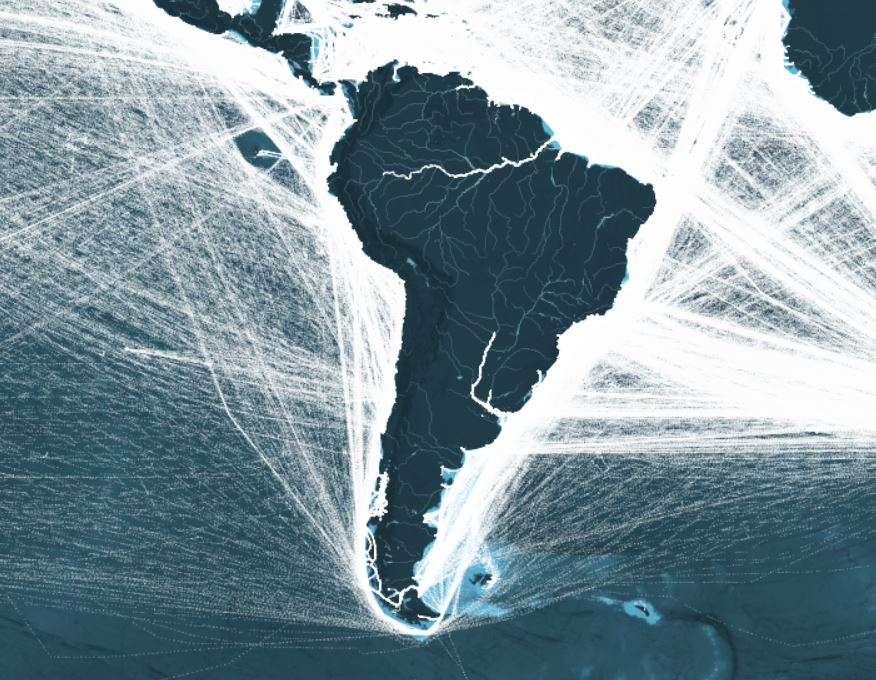 This Map Shows All The Shipping Routes In South America