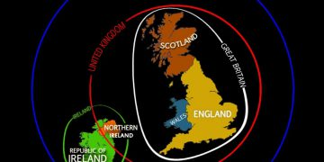 This Map explains the differences between England GB UK