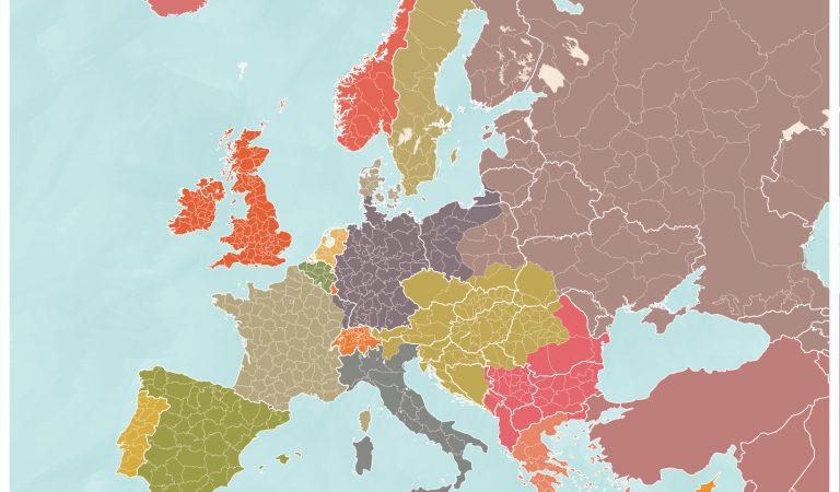European Borders In 1914 vs Borders Today