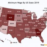 Minimum Wage By US State Map