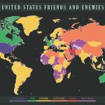 This map shows US allies and enemies