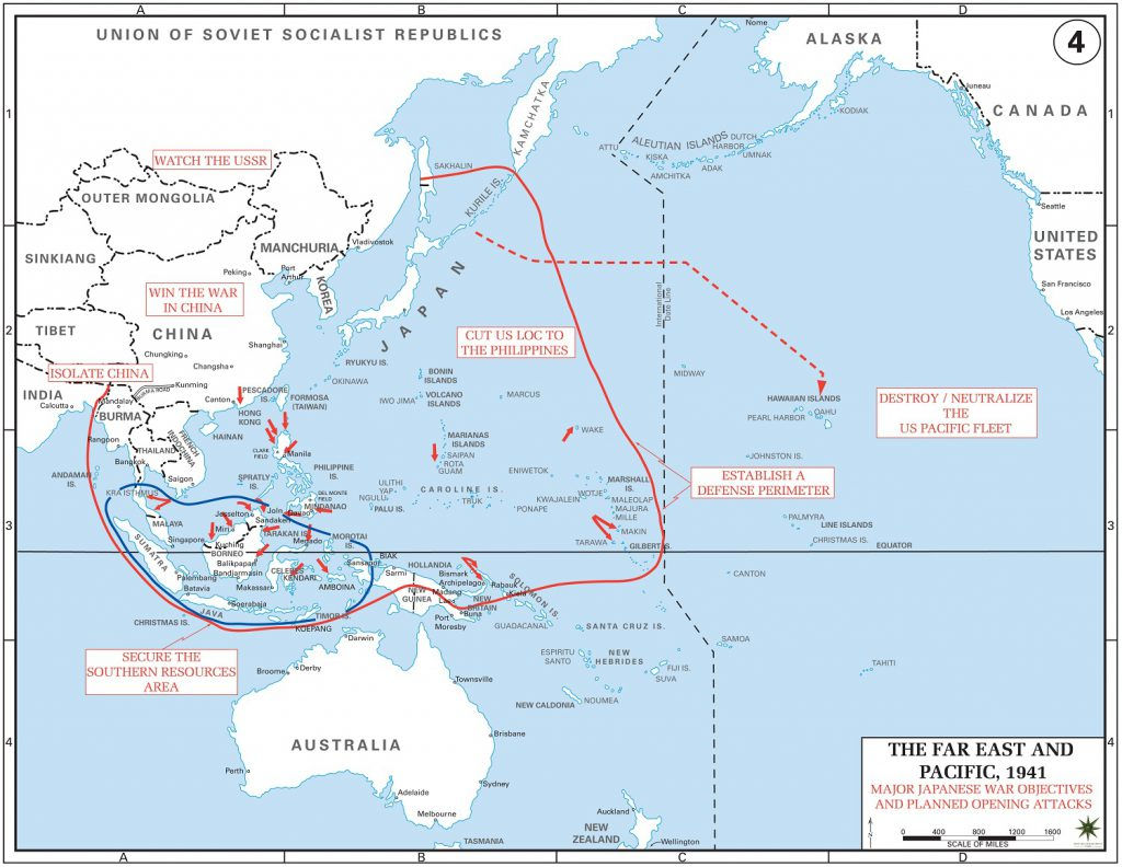 Map Attack Pearl Harbor 1941 Route