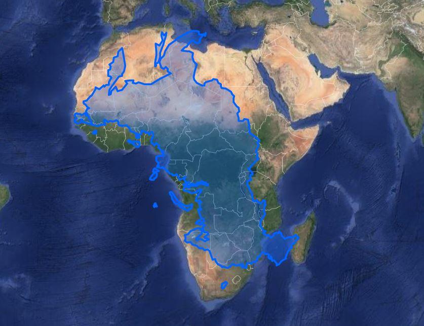 africa versus russia map