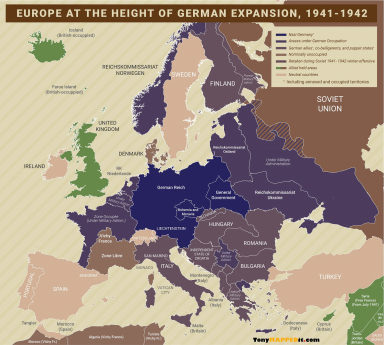 What If Nazi Germany Won World War II - Tony Mapped It