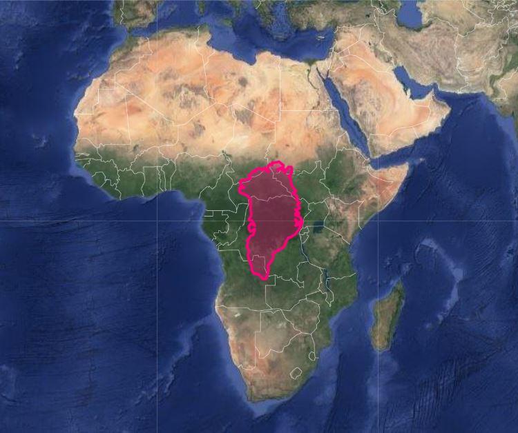 greenland versus africa map