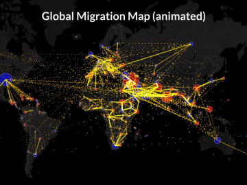 global migration flows map