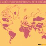 Mercator Projection vs True Country Size