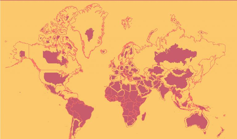 Mercator Vs The True Size of Each Country